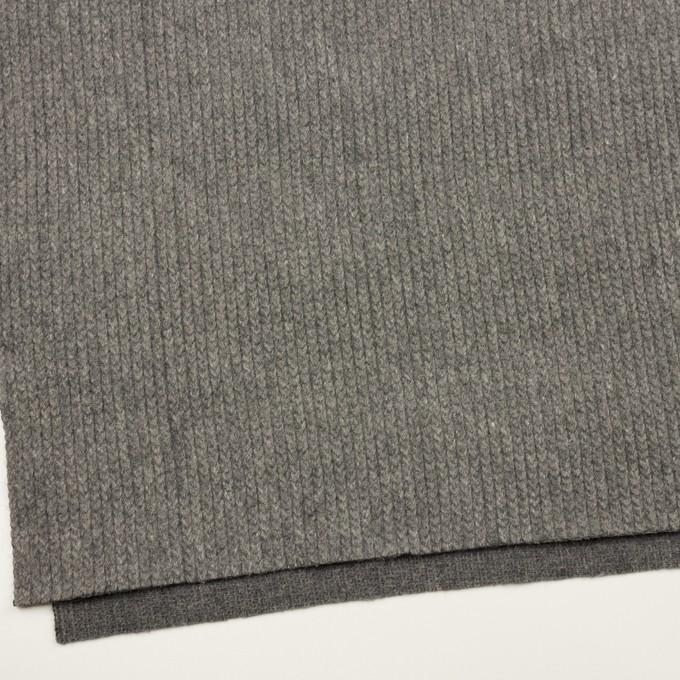 ウール&アンゴラ混×無地(グレー)×バルキーニット_全3色 イメージ2