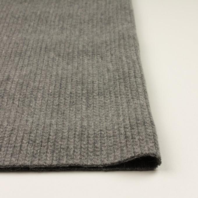 ウール&アンゴラ混×無地(グレー)×バルキーニット_全3色 イメージ3