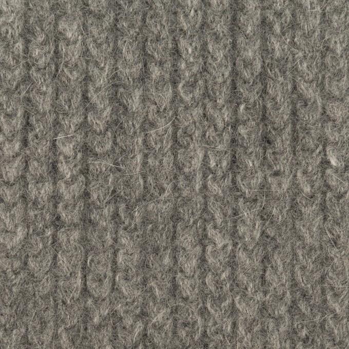 ウール&アンゴラ混×無地(グレー)×バルキーニット_全3色 イメージ1