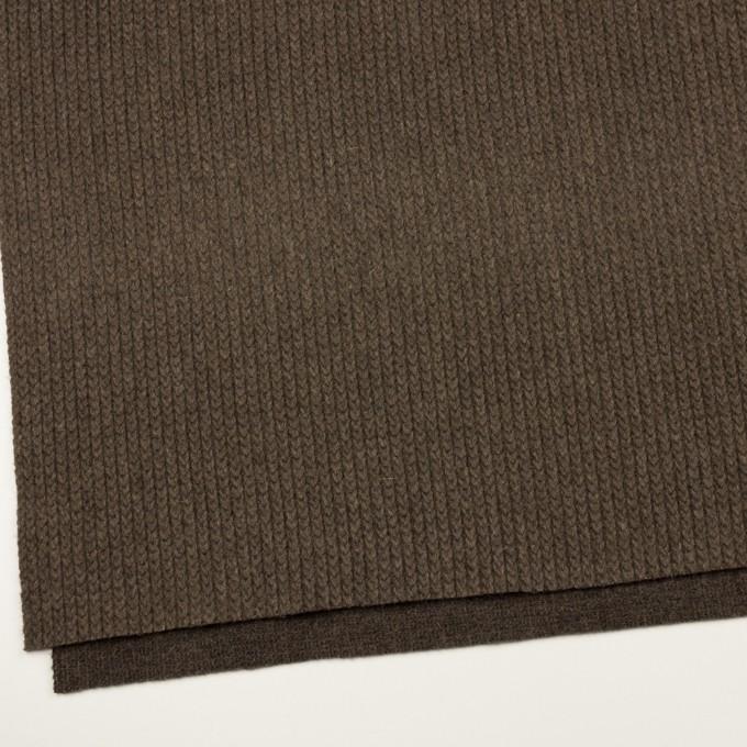ウール&アンゴラ混×無地(アッシュブラウン)×バルキーニット_全3色 イメージ2