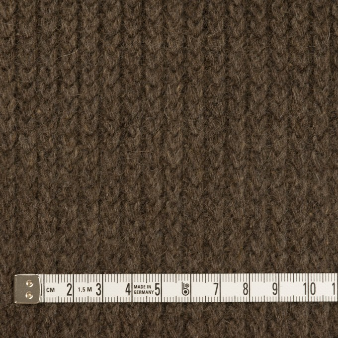 ウール&アンゴラ混×無地(アッシュブラウン)×バルキーニット_全3色 イメージ4