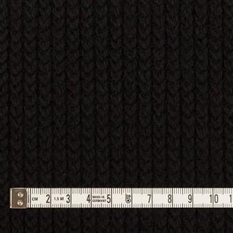 ウール&アンゴラ混×無地(ブラック)×バルキーニット_全3色 サムネイル4