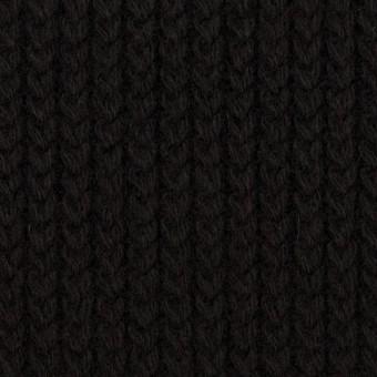ウール&アンゴラ混×無地(ブラック)×バルキーニット_全3色