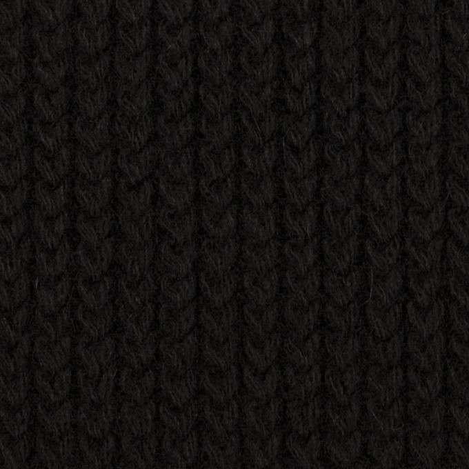 ウール&アンゴラ混×無地(ブラック)×バルキーニット_全3色 イメージ1