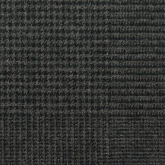 コットン×チェック(チャコール)×千鳥格子