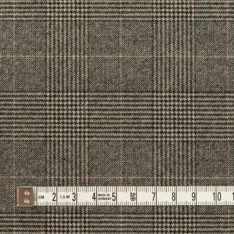ポリエステル&レーヨン混×チェック(グレー)×サージストレッチ サムネイル4