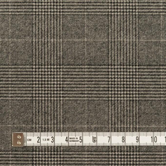 ポリエステル&レーヨン混×チェック(グレー)×サージストレッチ イメージ4