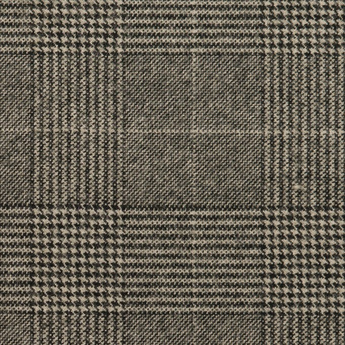 ポリエステル&レーヨン混×チェック(グレー)×サージストレッチ イメージ1