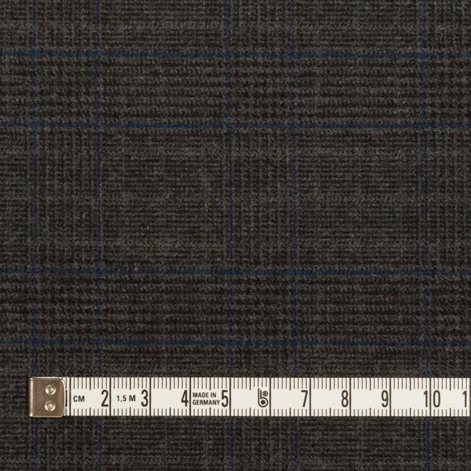 ポリエステル&レーヨン混×チェック(チャコール)×サージストレッチ イメージ4