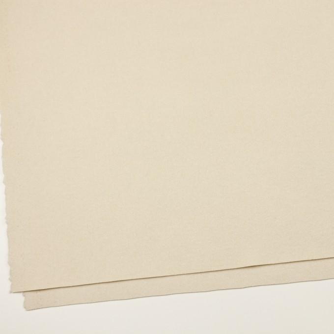 ウール&ナイロン×無地(キナリ)×ソフトメルトン イメージ2