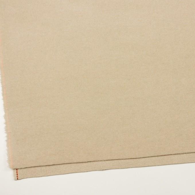 ウール&アクリル混×無地(ライトベージュ)×フラノ(フランネル) イメージ2