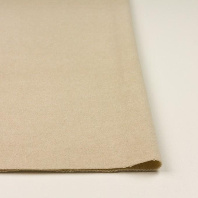 ウール&アクリル混×無地(ライトベージュ)×フラノ(フランネル) イメージ3