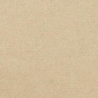 ウール&アクリル混×無地(ライトベージュ)×フラノ(フランネル)