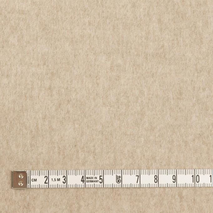 ウール×無地(オートミール)×メルトン イメージ4
