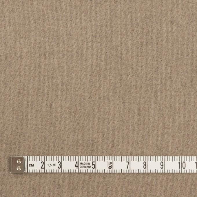ウール×無地(アッシュカーキ)×メルトン イメージ4