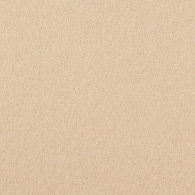 ウール&ナイロン×無地(ウォームベージュ)×ソフトメルトン イメージ1