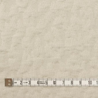 コットン&レーヨン混×レオパード(アイボリー)×ジャガードニット(キルティング)_全2色 サムネイル4