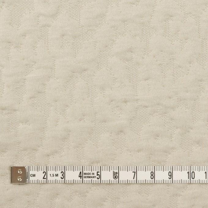 コットン&レーヨン混×レオパード(アイボリー)×ジャガードニット(キルティング)_全2色 イメージ4