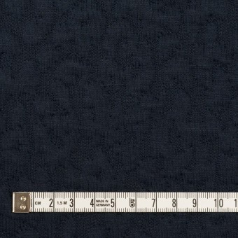 コットン&レーヨン混×レオパード(ネイビー)×ジャガードニット(キルティング)_全2色 サムネイル4