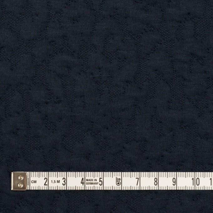 コットン&レーヨン混×レオパード(ネイビー)×ジャガードニット(キルティング)_全2色 イメージ4