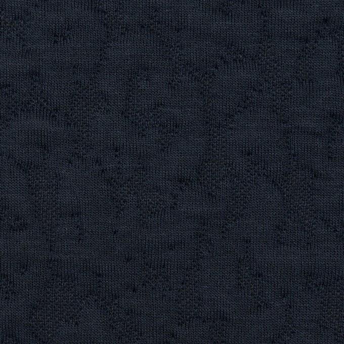 コットン&レーヨン混×レオパード(ネイビー)×ジャガードニット(キルティング)_全2色 イメージ1