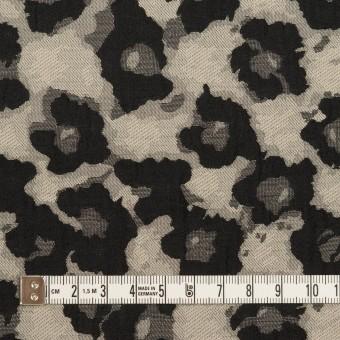 コットン&ポリエステル×フラワー(アイボリー&ブラック)×フクレジャガード サムネイル4