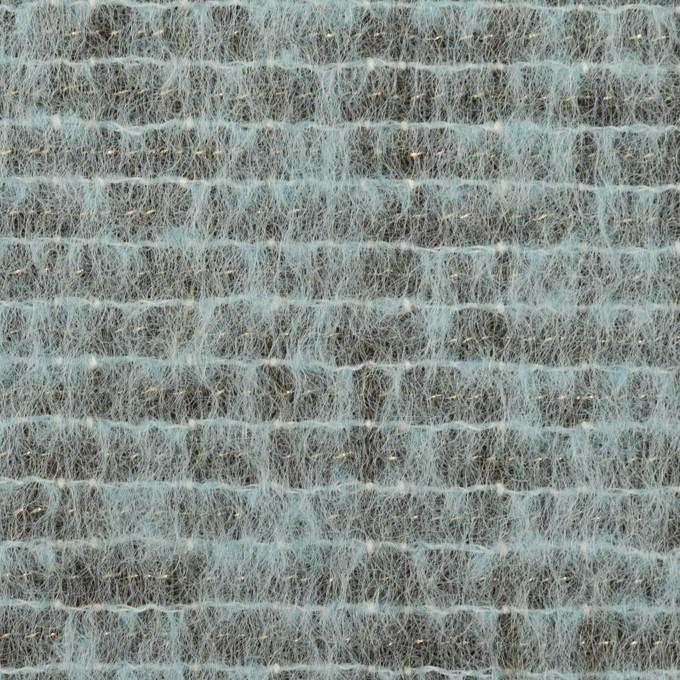 コットン&ウール混×ミックス(ブルーグレー)×シャギー イメージ1