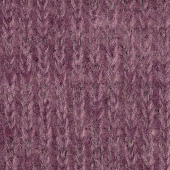 モヘア&ウール混×無地(モーブ)×バルキーニット_イタリア製 イメージ1