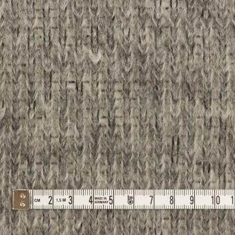 モヘア&ウール混×無地(グレー)×バルキーニット_イタリア製 サムネイル4