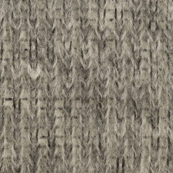 モヘア&ウール混×無地(グレー)×バルキーニット_イタリア製 サムネイル1
