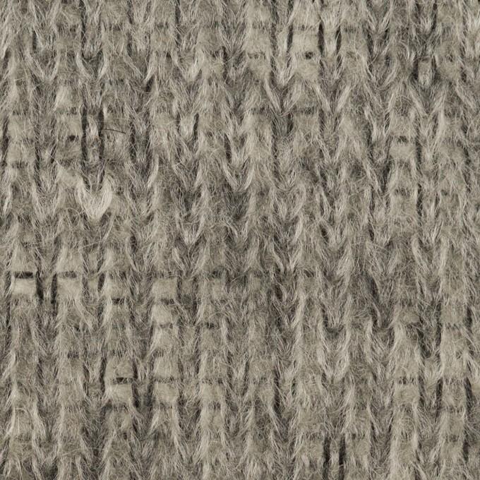 モヘア&ウール混×無地(グレー)×バルキーニット_イタリア製 イメージ1