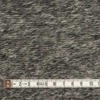 ウール&アクリル混×ミックス(チャコールグレー)×ループニット サムネイル4