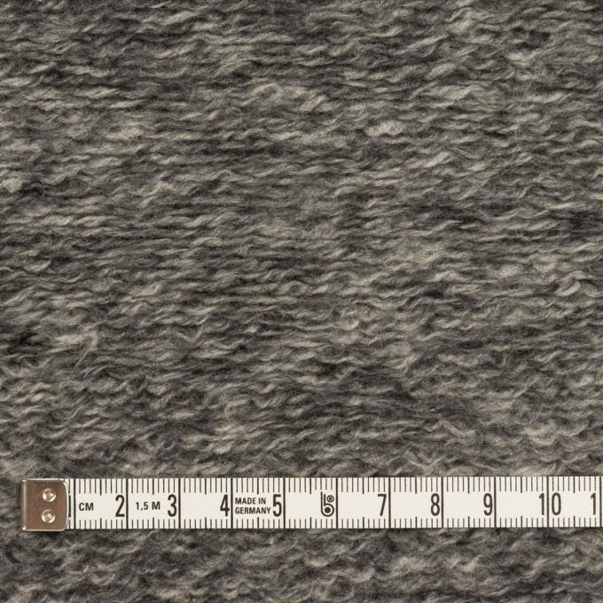 ウール&アクリル混×ミックス(チャコールグレー)×ループニット イメージ4