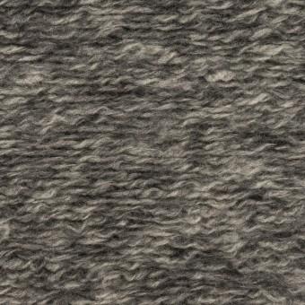 ウール&アクリル混×ミックス(チャコールグレー)×ループニット