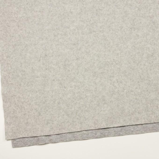 ウール&コットン混×無地(ライトグレー)×Wニット_全2色 イメージ2