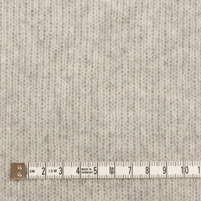 ウール&コットン混×無地(ライトグレー)×Wニット_全2色 イメージ4