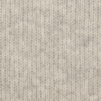 ウール&コットン混×無地(ライトグレー)×Wニット_全2色