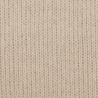 ウール&コットン混×無地(ベージュグレー)×Wニット_全2色
