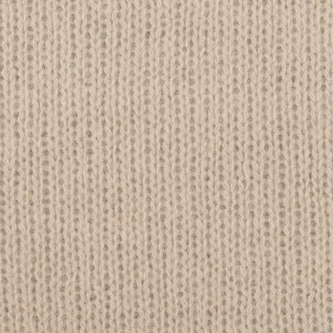ウール&コットン混×無地(ベージュグレー)×Wニット_全2色 イメージ1
