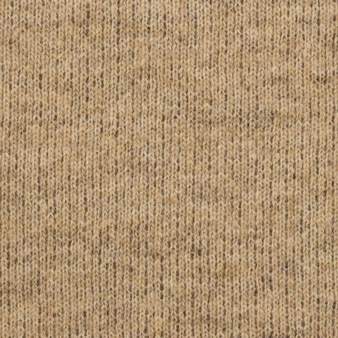 ウール&アクリル混×無地(ライトブラウン)×裏毛ニット_全2色 イメージ1