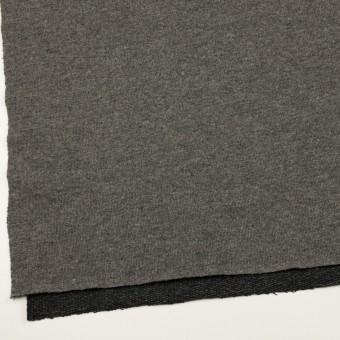 ウール&アクリル混×無地(チャコールグレー)×裏毛ニット_全2色 サムネイル2