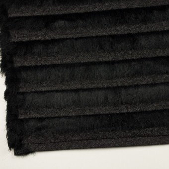 ポリエステル&ウール×ボーダー(ブラック)×シャギーニット_全2色 サムネイル2