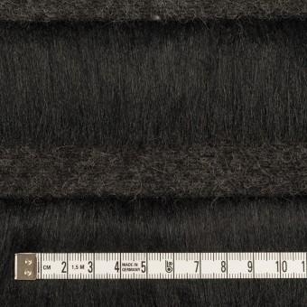 ポリエステル&ウール×ボーダー(ブラック)×シャギーニット_全2色 サムネイル4