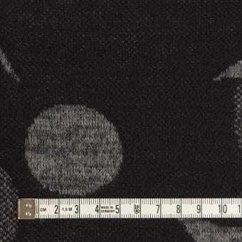 ウール&ポリエステル×フラワー(グレー&ダークネイビー)×ジャガードニット_全3色 サムネイル4
