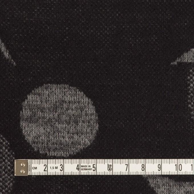 ウール&ポリエステル×フラワー(グレー&ダークネイビー)×ジャガードニット_全3色 イメージ4