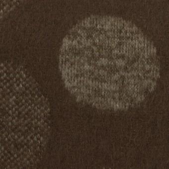 ウール&ポリエステル×フラワー(カーキ&アッシュブラウン)×ジャガードニット_全3色 サムネイル1