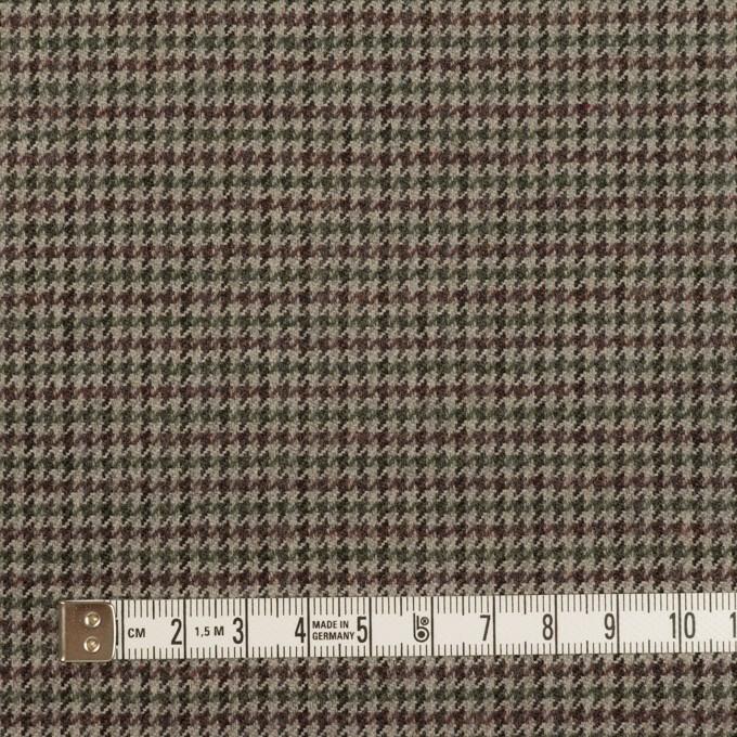 ウール×チェック(エンジ、モスグリーン&グレー)×千鳥格子 イメージ4