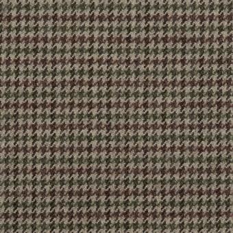 ウール×チェック(エンジ、モスグリーン&グレー)×千鳥格子 サムネイル1