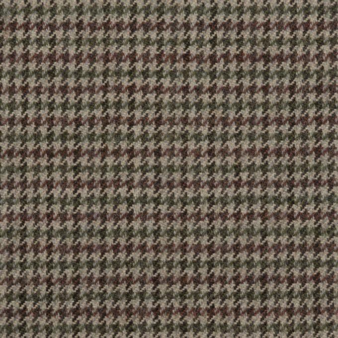 ウール×チェック(エンジ、モスグリーン&グレー)×千鳥格子 イメージ1