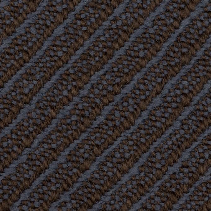 ウール×ミックス(ラベンダーブルー&ブラウン)×ツイード イメージ1